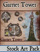 Elven Tower - Garnet Tower | (14x16) Stock Battlemap