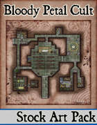 Elven Tower - Bloody Petal Cult | 24x24 Stock Battlemap