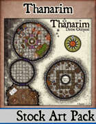 Elven Tower - Thanarim, Drow Outpost | 28x28 Stock Battlemap