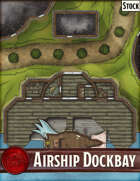 Elven Tower - Airship Dockbay | 29x30 Stock Battlemap