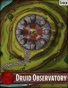 Elven Tower - Druid Observatory | 26x20 Stock Battlemap
