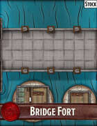 Elven Tower - Bridge Fort| 34x25 Stock Battlemap
