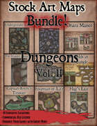 Stock Art Maps Bundle 4 - Dungeons Vol. II [BUNDLE]