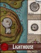 Elven Tower - Lighthouse | Stock Battlemap