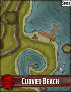 Elven Tower - Curved Beach | 23x26 Stock Battlemap