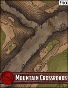 Elven Tower - Mountain Crossroads | 25x25 Stock Battlemap