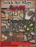 Stock Art Maps Bundle 10 - Dungeons Vol. IV [BUNDLE]