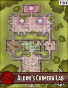 Elven Tower - Aldini's Chimera Lab | 46x63 Stock Battlemap