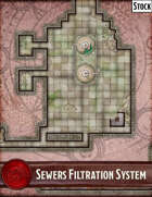 Elven Tower - Sewers Filtration System   60x28 Stock Battlemap