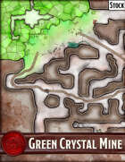 Elven Tower - Green Crystal Mine| 53x33 Stock Battlemap