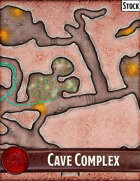 Elven Tower - Cave Complex | 48x30 Stock Battlemap