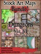 Stock Art Maps Bundle 13 - Dungeons Vol. VI [BUNDLE]
