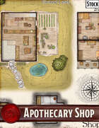 Elven Tower - Apothecary Shop | 20x19 Stock Battlemap