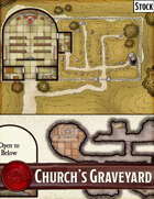 Elven Tower - Church's Graveyard | 30x30 Stock Battlemap