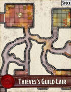 Elven Tower - Thieves's Guild Lair   19x20 Stock Battlemap