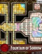 Elven Tower - Fountain of Sorrow (30x26) | Stock Battlemap