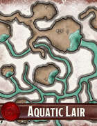 Elven Tower - Aquatic Lair | 29x30 Stock Battlemap