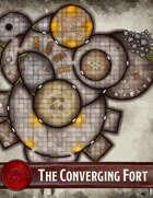 Elven Tower - The Converging Fort | 38x42 Stock Battlemap