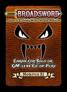 Broadsword Expansion: Solo & Co-op Cards