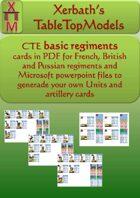 CTE basic regiments cards