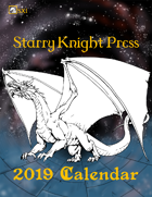 SX1 Starry Knight Press 2019 Calendar