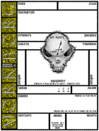 Mörk Borg Pandemic Character Sheet