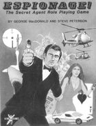 Espionage!: The Secret Agent Role Playing Game (1st Edition)