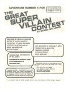 The Great Super Villain Contest (3rd Edition)
