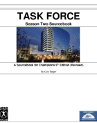 TASK FORCE Season Two Sourcebook and HDC Bundle