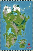 Thurian Legends: Continent Map (c.1100 NE)