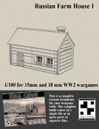 Russian Farmhouse for Wargames