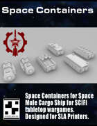Space Containers for Space Mule Cargo Ship