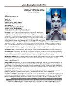 The Iron Realm Vampire Wife Creature Profile