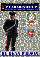CARABINIERI Italian Police Carabinieri and Army