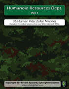 Humanoid Resources Dept. Vol 1: d66 Human Space Marines
