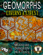 Hex Geomorphs: Caverns & Caves Set 1
