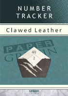 Number Tracker - Clawed Leather