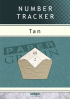 Number Tracker - Tan