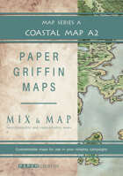 Paper Griffin Maps: Mix & Map A2 - Coastal Map