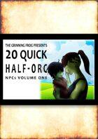 20 Quick Half-Orc NPCs