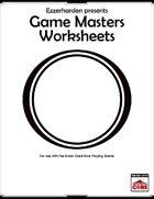 GM Worksheet for ICRPG
