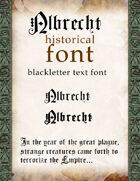 Albrecht historical font