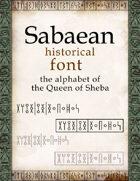 Sabaean historical font