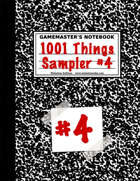 1001 Things Sampler #4