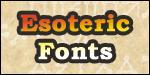 Esoteric Fonts