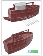 Japanese Sengoku-era or seki bune ship for 3d printing (STL File)