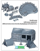 bandit camp scenery SET (STL Files)