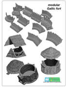 Celtic and Gallic fort SET (STL Files)