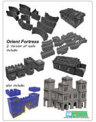 modular orient Fortress or Castle SET - OPENLOCK (STL File)