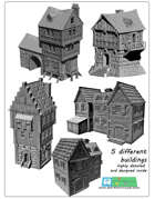 Medieval buildings SET (STL Files)